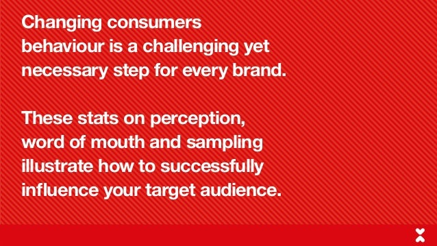 Changing Perceptions, Word of Mouth & Sampling Slide 2