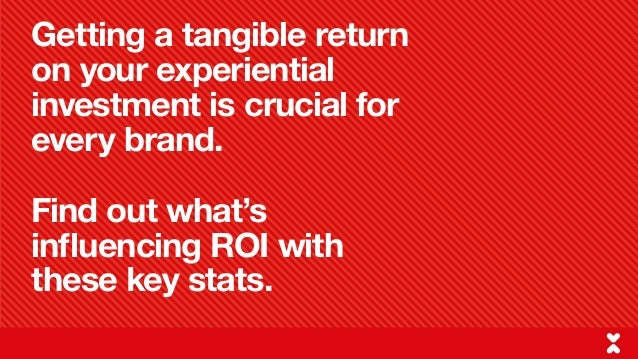 Return on investment and driving sales with experiential - Key experiential marketing stats for 2016 Slide 2