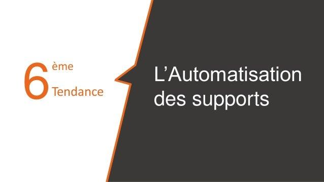 6 L'Automatisation des supports ème Tendance
