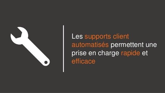 Les supports client automatisés permettent une prise en charge rapide et efficace