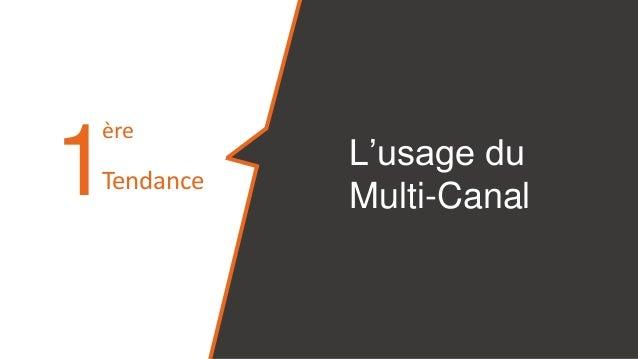 L'usage du Multi-Canal1 ère Tendance
