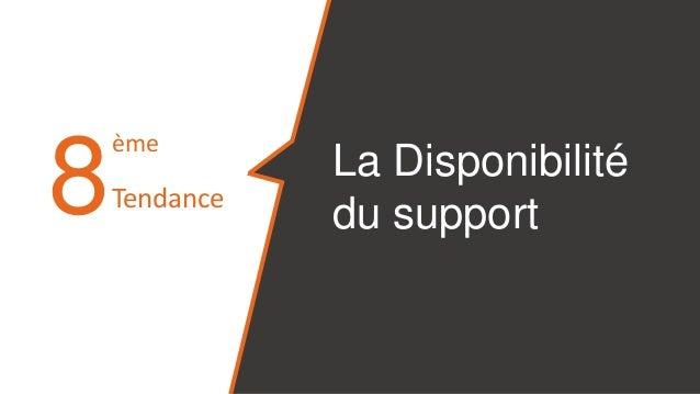 8 La Disponibilité du support ème Tendance