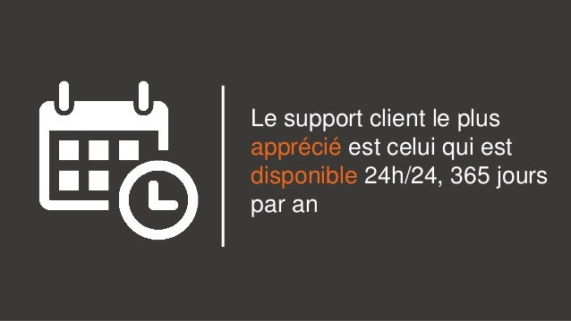 Le support client le plus apprécié est celui qui est disponible 24h/24, 365 jours par an