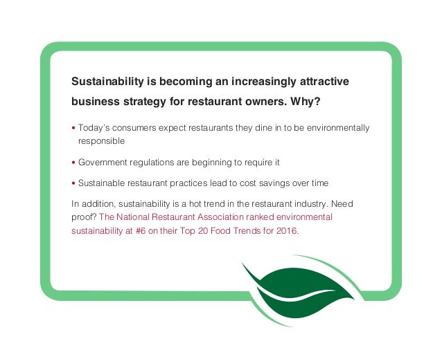 how to make your restaurant sustainable