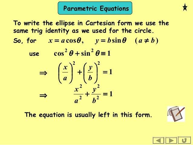 1602 parametric equations