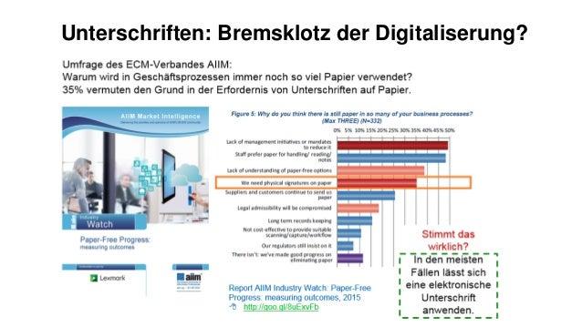 Unterschriften: Bremsklotz der Digitaliserung?