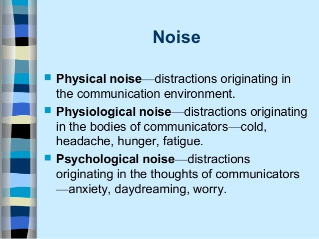 what is psychological noise