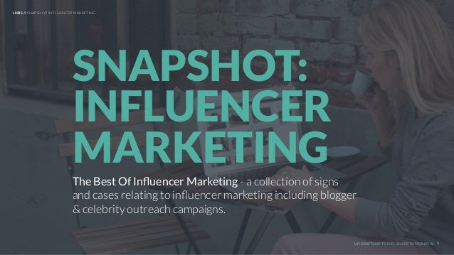 UNDERSTAND TODAY. SHAPE TOMORROW. The Best Of Influencer Marketing - a collection of signs and cases relating to influencer ...