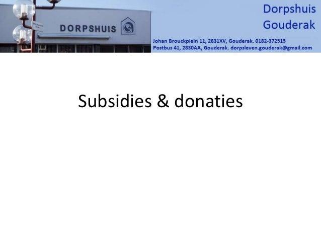 Subsidies & donaties