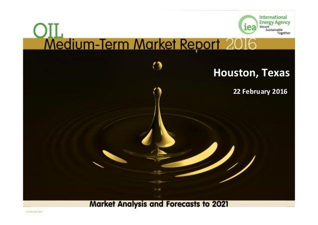 © OECD/IEA 2016© OECD/IEA 2016 Houston, Texas 22 February 2016