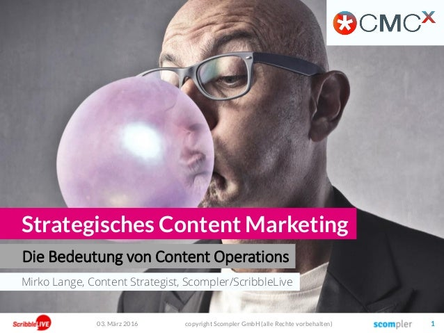 Mirko Lange, Content Strategist, Scompler/ScribbleLive Die Bedeutung von Content Operations Strategisches Content Marketin...
