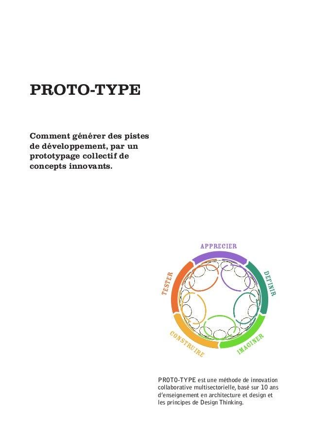 PROTO-TYPE Comment générer des pistes de développement, par un prototypage collectif de concepts innovants. apprecier defi...