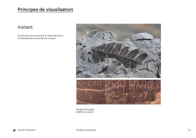 13Fossiles numériquesStudio Chevalvert Instant Ce principe s'incarnera par la notion de traces ou d'empreintes fixées dans...