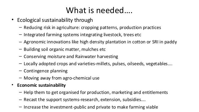 26Switching over to ecological farming practices