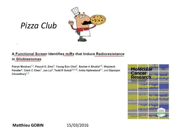 Pizza Club Matthieu GOBIN 15/03/2016