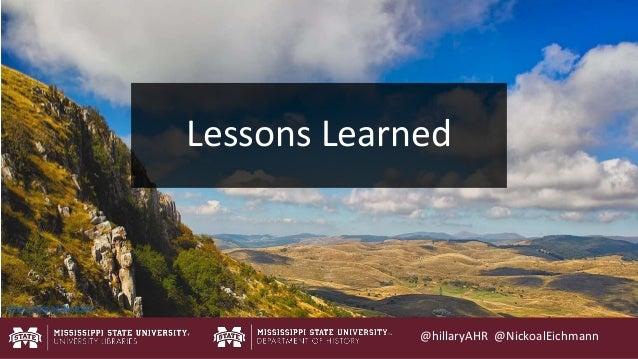 @hillaryAHR @NickoalEichmann http://mrg.bz/NrjhWa Lessons Learned