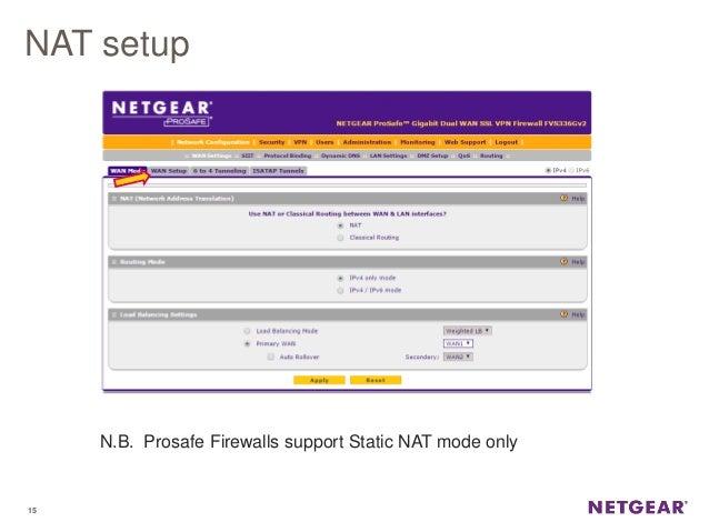 Webinar NETGEAR - Prosafe VPN Firewall - Configurazione di NAT e Gest…
