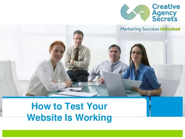 How to Test Your Website Is Working