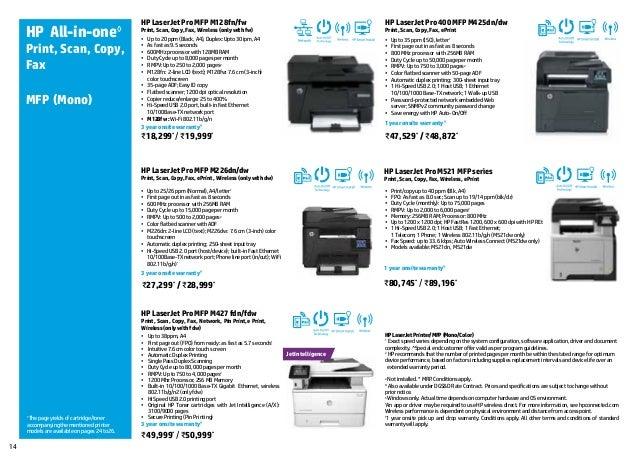 Hp Printer Brochure For Customer Reference