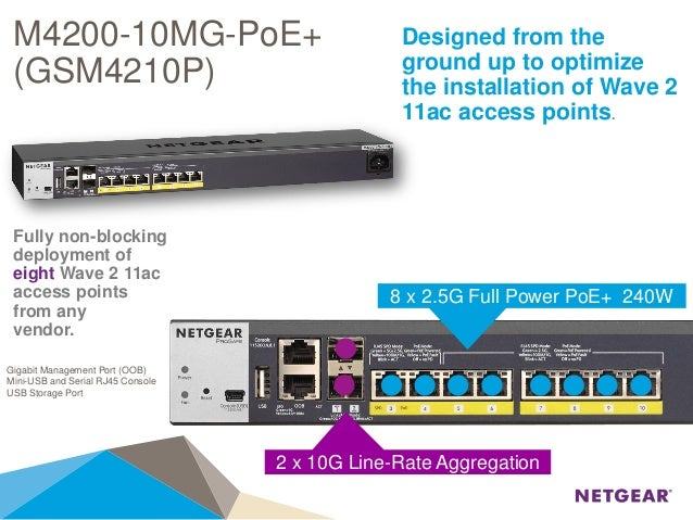 Webinar NETGEAR - Nuovi Switch ProSafe Full Managed M4200 & M4300