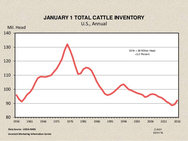 U S Cattle Inventory Dr. Derrell Peel - Eco...