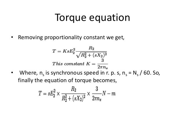 torque equation for polyphase induction motor