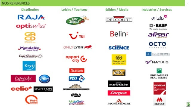 21NOS REFERENCES Distribution Loisirs / Tourisme Edition / Media Industries / Services