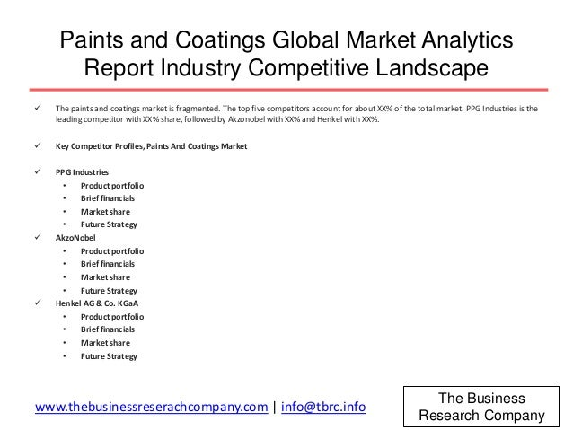 global paints and coatings market in depth Ippic research study provides in-depth analysis of the paint and coating bcc research study analyzes the global market for paints, coatings paint and coating.