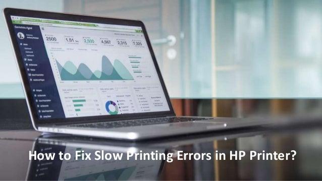 Fix Slow Printing Errors in HP Printer