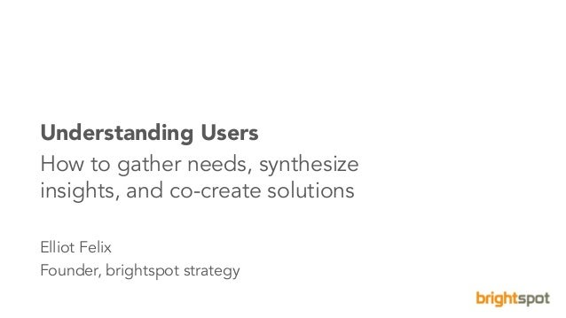 1brightspot strategy Eight Schools Association©2016. All Rights Reserved. Understanding Users How to gather needs, synthes...
