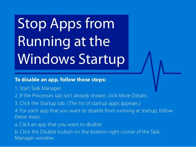how to stop application from running on startup windows 10