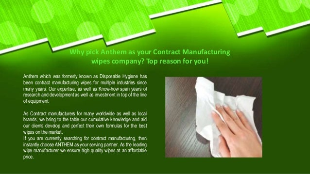 Call for Quality Contract Manufacturing Wipes| Anthem