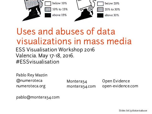 Uses and abuses of data visualizations in mass media ESS Visualisation Workshop 2016 Valencia. May 17-18, 2016. #ESSvisual...