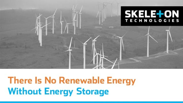 There Is No Renewable Energy Without Energy Storage