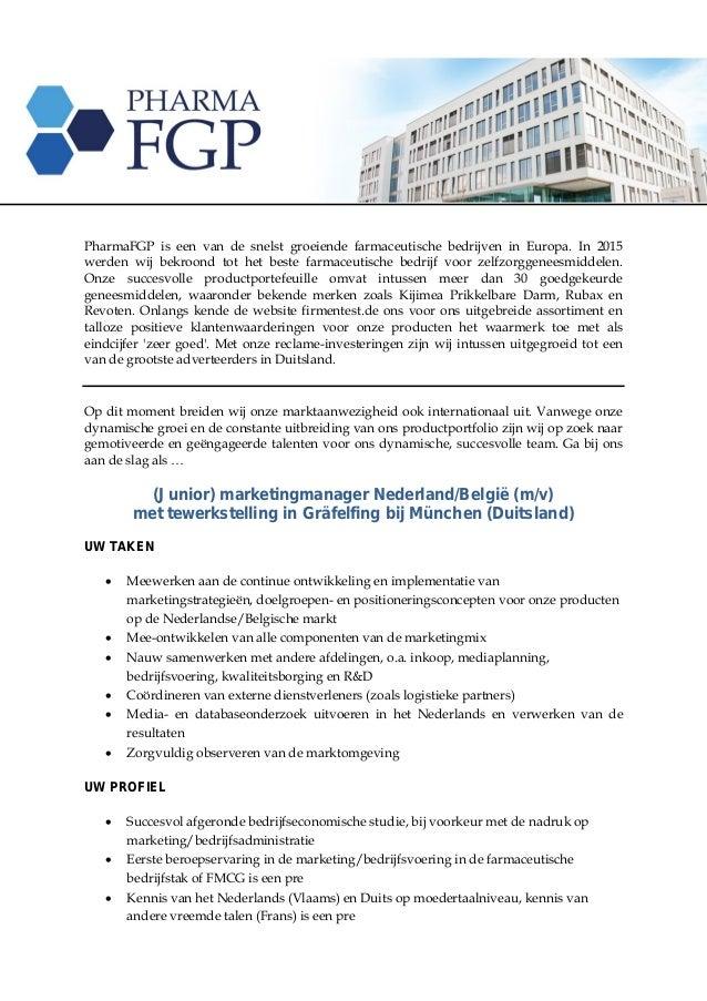 PharmaFGP is een van de snelst groeiende farmaceutische bedrijven in Europa. In 2015 werden wij bekroond tot het beste far...