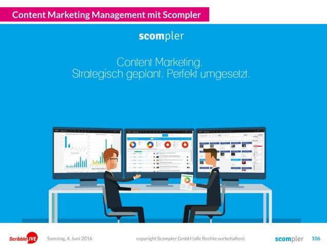Content Marketing Management mit Scompler copyright Scompler GmbH (alle Rechte vorbehalten) 106Samstag, 4. Juni 2016
