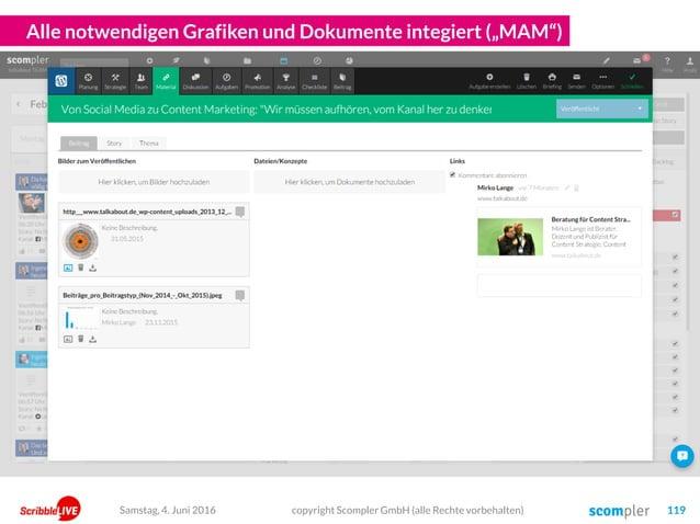 """Alle notwendigen Grafiken und Dokumente integiert (""""MAM"""") copyright Scompler GmbH (alle Rechte vorbehalten) 119Samstag, 4...."""