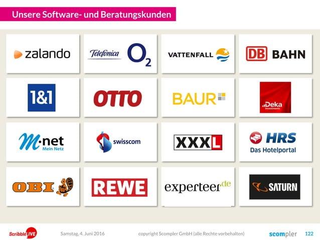 Unsere Software- und Beratungskunden copyright Scompler GmbH (alle Rechte vorbehalten) 122Samstag, 4. Juni 2016
