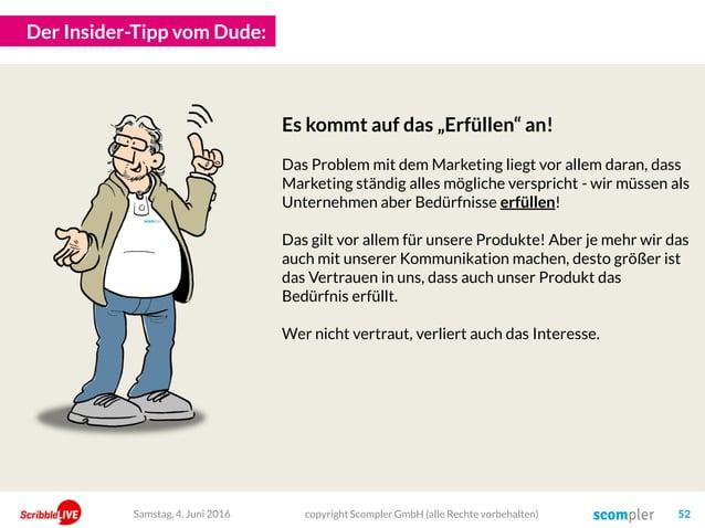 """Der Insider-Tipp vom Dude: copyright Scompler GmbH (alle Rechte vorbehalten) 52Samstag, 4. Juni 2016 Es kommt auf das """"Erf..."""