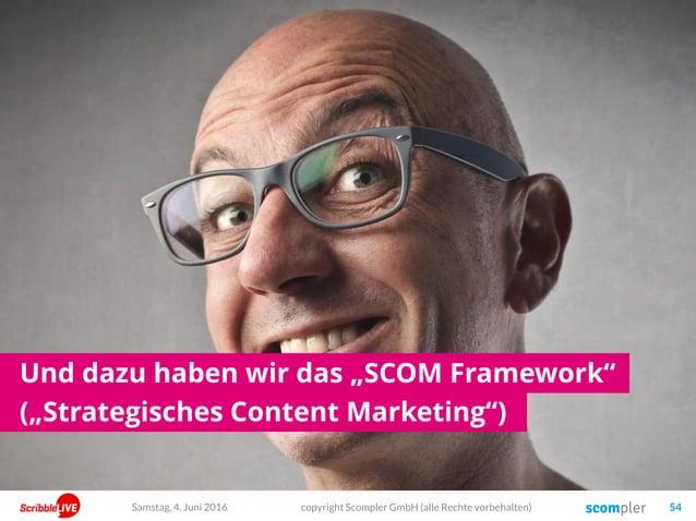 """Und dazu haben wir das """"SCOM Framework"""" (""""Strategisches Content Marketing"""") copyright Scompler GmbH (alle Rechte vorbehalt..."""