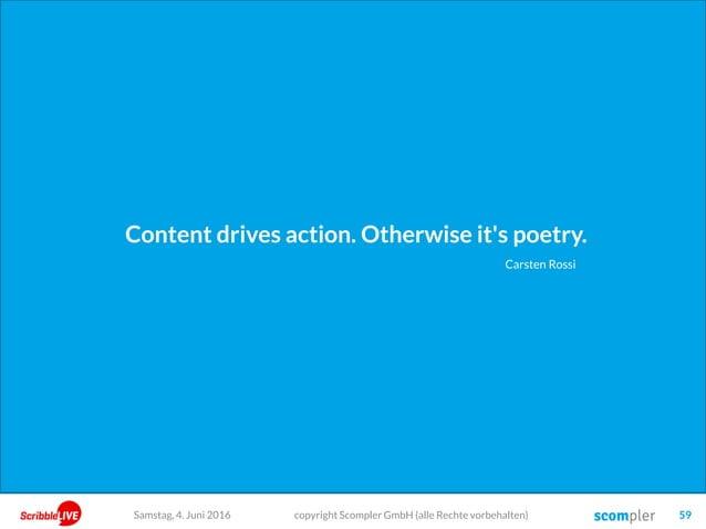 Schritt 3: Wie erreichen wir Ziele, indem wir Bedürfnisse befriedigen? Die Conversion copyright Scompler GmbH (alle Rechte...