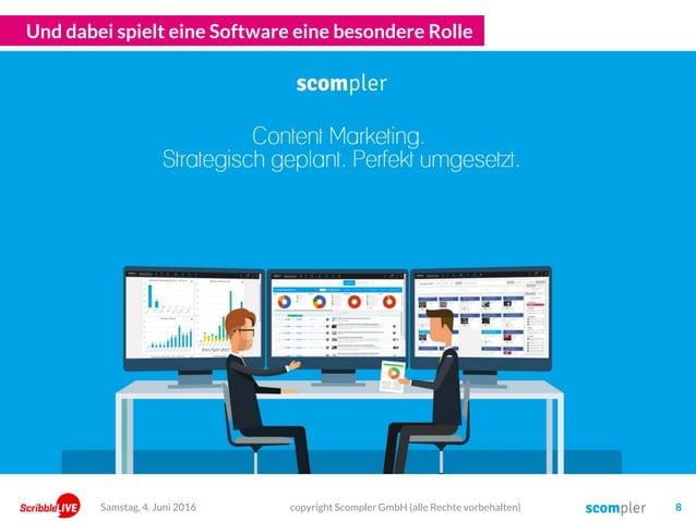 Und dabei spielt eine Software eine besondere Rolle copyright Scompler GmbH (alle Rechte vorbehalten) 8Samstag, 4. Juni 20...