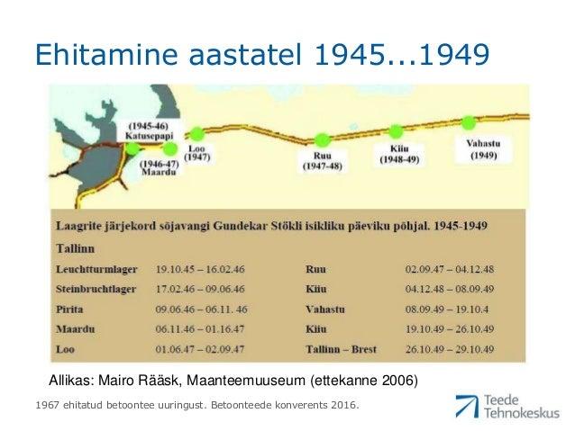 """Marek Truu """"Tallinn-Narva maantee 1967. aastal ehitatud betoontee lõigu uuringu tulemused"""" Slide 3"""