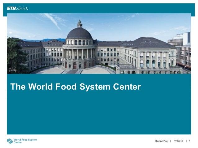 || The World Food System Center 17.06.16Bastian Flury 1