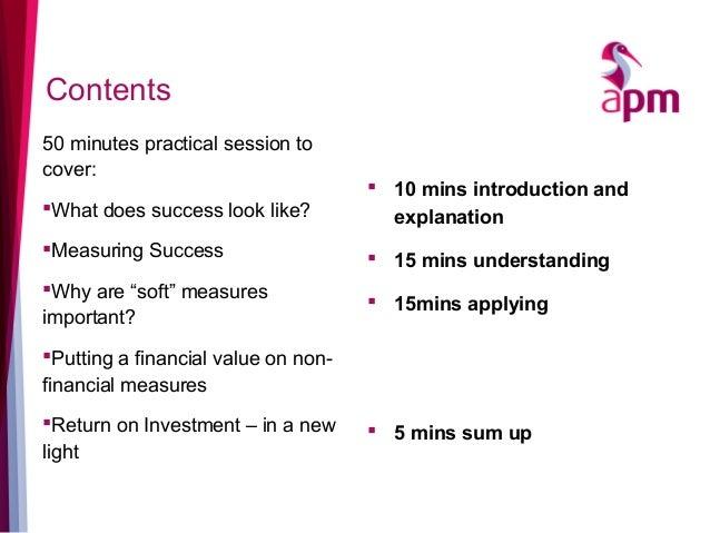 APM Benefits Summit 2016 - Hugo MInney SROI Slide 2