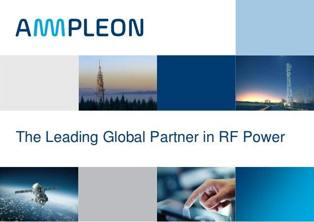 The Leading Global Partner in RF Power