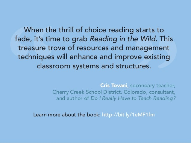""""""" """" When the thrill of choice reading starts to fade, it's time to grab Reading in the Wild. This treasure trove of resour..."""