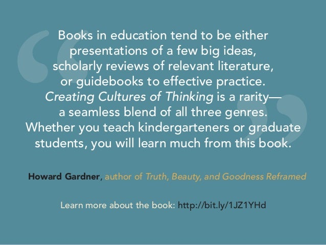 """"""" """" Books in education tend to be either presentations of a few big ideas, scholarly reviews of relevant literature, or gu..."""