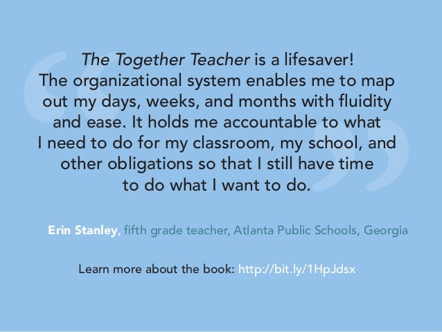 """"""" """" The Together Teacher is a lifesaver! The organizational system enables me to map out my days, weeks, and months with f..."""