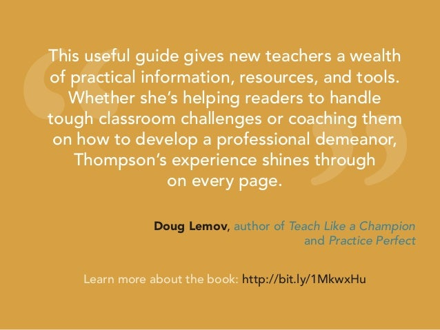 """"""" """" This useful guide gives new teachers a wealth of practical information, resources, and tools. Whether she's helping re..."""